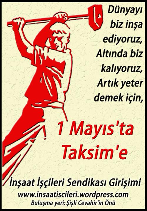 1 Mayıs'ta Taksim'e