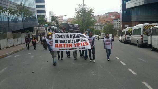 İnsaat işcileri de 19 mayis sokaginda
